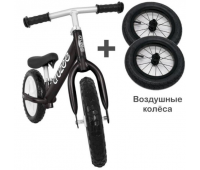 Cruzee UltraLite Balance Bike (Black) + Air Wheels