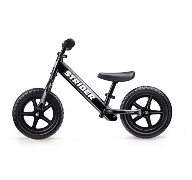 Купить Беговел Strider 12 Sport Black (страйдер спорт чёрный)