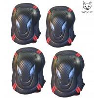 Комплект защиты 2 в 1 Jet-Cat (Черная с красным) защита локтей и колен