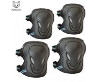 Комплект защиты 2 в 1 Jet-Cat (Черная с синим) защита локтей и колен