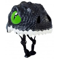 Шлем детский Black Dragon Crazy Safety 2017 (чёрный дракон-динозавр)