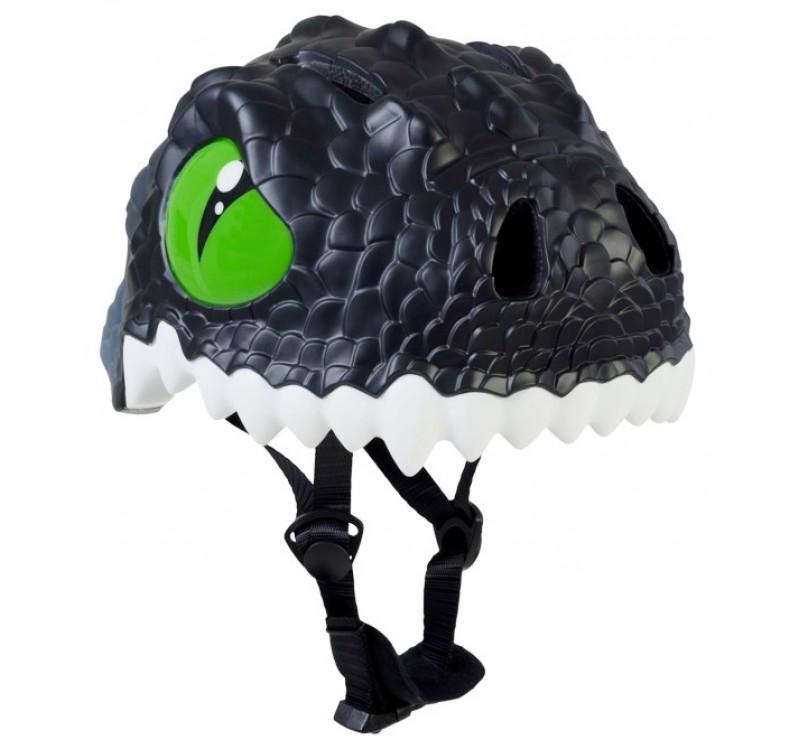Купить Шлем детский Black Dragon Crazy Safety 2017 (чёрный дракон-динозавр)