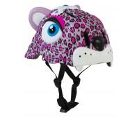 Шлем защитный Pink Leopard by Crazy Safety (розовый леопард)