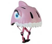 Шлем защитный Pink Shark by Crazy Safety New (розовая акула)