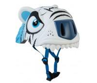 Шлем защитный White Tiger  by Crazy Safety New (белый тигр)