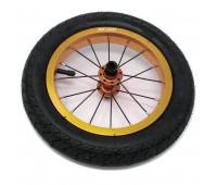 """Колеса 2 штуки для Беговела Cruzee-Strider 12"""" (воздушные)  JETCAT Wheels Pro Золотые"""