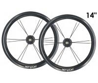 "Колеса 14"" - 2 штуки для Беговела Early Rider, Bike8 Racing, Jetcat Race(без покрышки)  JETCAT Wheels Pro - Чёрные"