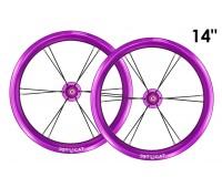 "Колеса 14"" - 2 штуки для Беговела Early Rider, Bike8 Racing, Jetcat Race (без покрышки)  JETCAT Wheels Pro - Сиреневые"