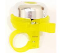 Звонок на беговел-велосипед JETCAT Yellow Желтый (Механический)