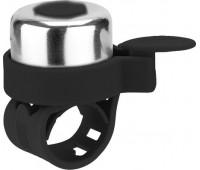 Звонок на беговел-велосипед-самокат JETCAT Black (на силиконовом ремешке)