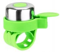 Звонок на беговел-велосипед-самокат JETCAT Green (на силиконовом ремешке)